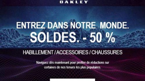 Soldes Oakley 50% De Remise Sur L'habillement Et Accessoires