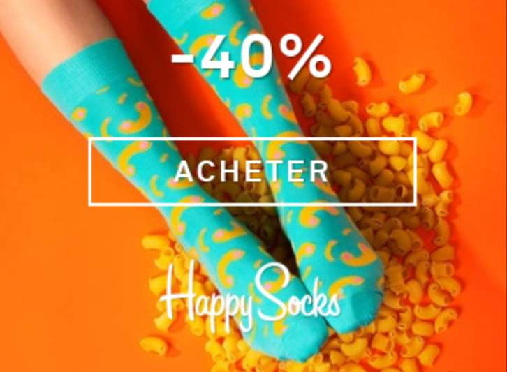 Soldes chaussettes Happy Socks