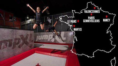 Trampoline parc Jump XL pas cher