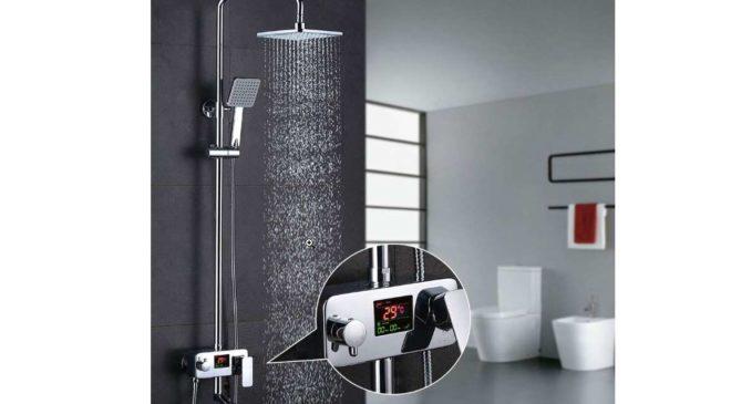 colonne de douche avec affichage température LCD Homelody