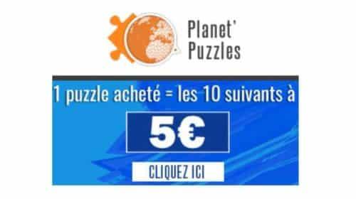 puzzle acheté sur Planet Puzzle les 10 suivants sont 5€ pièces