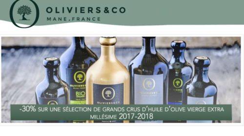 réduction sur des grands crus d'huile d'olive millésimés Oliviers&Co