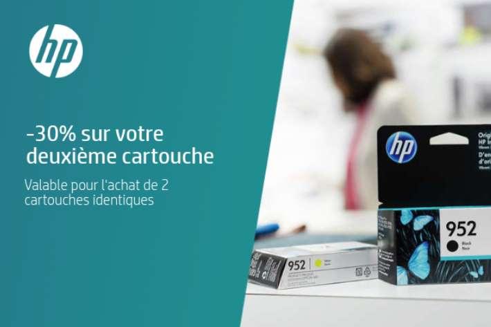 réduction sur votre deuxième cartouche d'encre HP