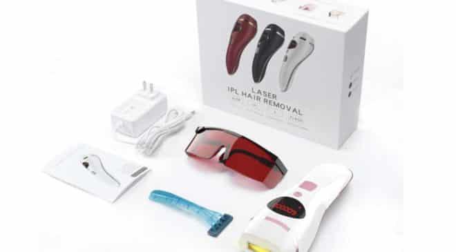 épilateur lumière pulsée portable SMALLRT avec lunette de protection