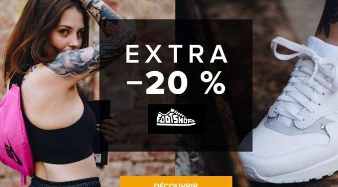 20% de remise sur tout le site Footshop