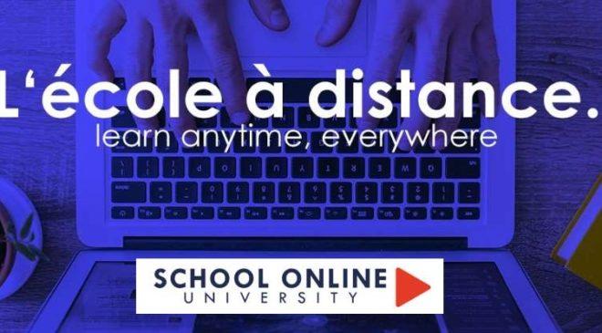 30% de remise sur toutes les formations en ligne de la School Online University