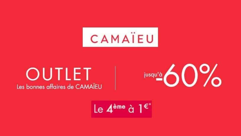 4ème article Outlet Camaïeu acheté est à 1€