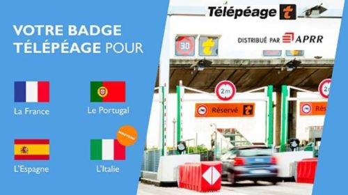 Badge télépéage topEurop sans engament à 7€
