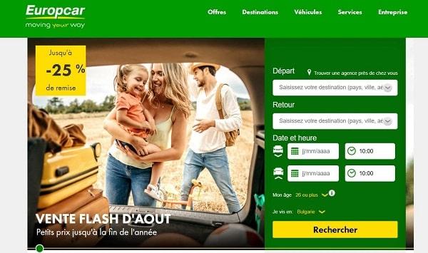 jusqu'à 25% de remise sur vos locations de voiture avec europcar