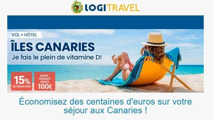 Offre spéciale séjour aux Canaries dès 250€ semaine vol + hôtel par Logitravel