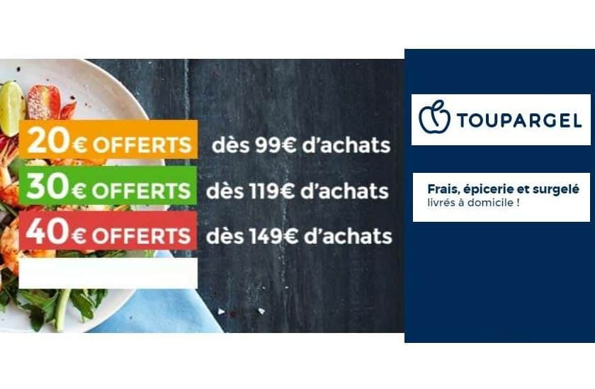 Remises Toupargel -20€ pour une commande de 99€