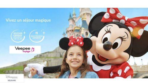 Séjour moins cher demi-pension offerte à Disneyland en vente privée