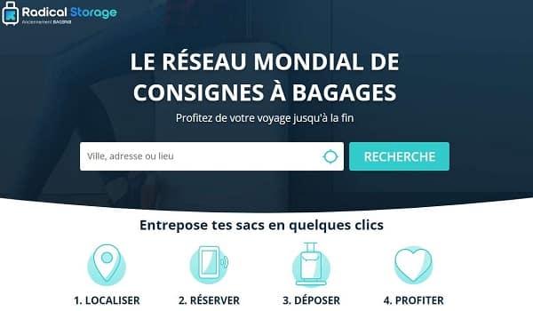 consigne à bagages et objets (casque, sac…) chez les commerçants grâce à radical storage