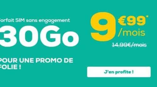 forfait 30Go La Poste Mobile sans engagement tout illimité