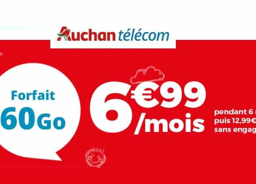 forfait Auchan Telecom 60Go en vente flash