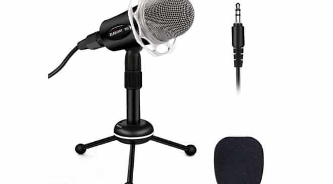 microphone PRO avec condensateur pour PC sur pied Elegiant