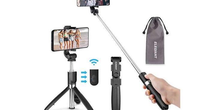 perche à selfie Bluetooth avec télécommande Elegiant