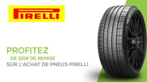 remise immédiate sur les pneus Pirelli sur Avatacar