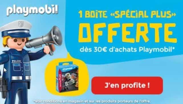 1 boite Playmobil Spécial Plus offerte pour 30€ d'achat