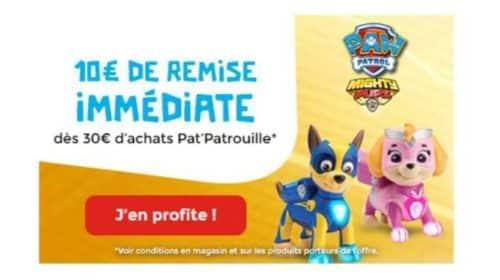 10€ de remise sur les jouets Pat Patrouille