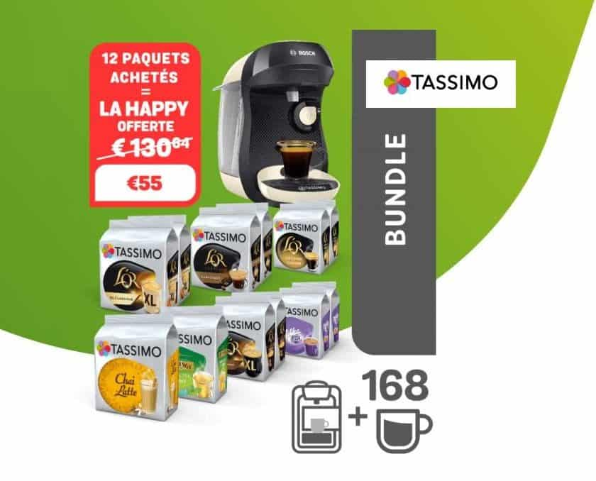 12 paquets de dosette Tassimo la machine Bosch Tassimo Happy gratuite