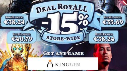 15% de réduction sur tout le site Kinguin
