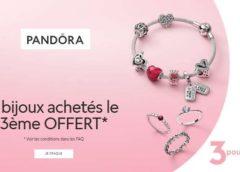 2 bijoux Pandora achetés = le troisième offert ( sur une large sélection)