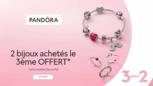 2 Bijoux Pandora Achetés = Le Troisième Offert Sur Tous Les Bijoux