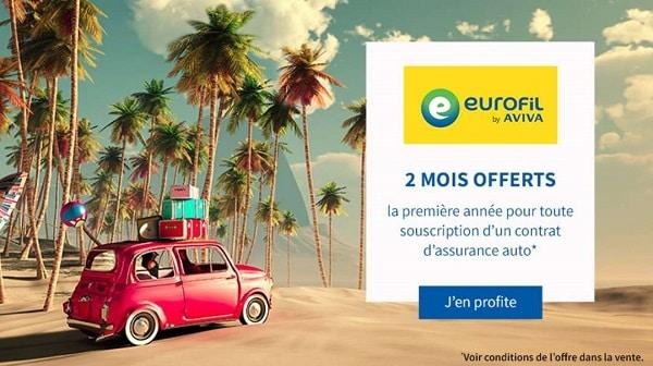 2 Mois Offerts Pour Une Souscription D'une Assurance Auto Eurofil By Aviva