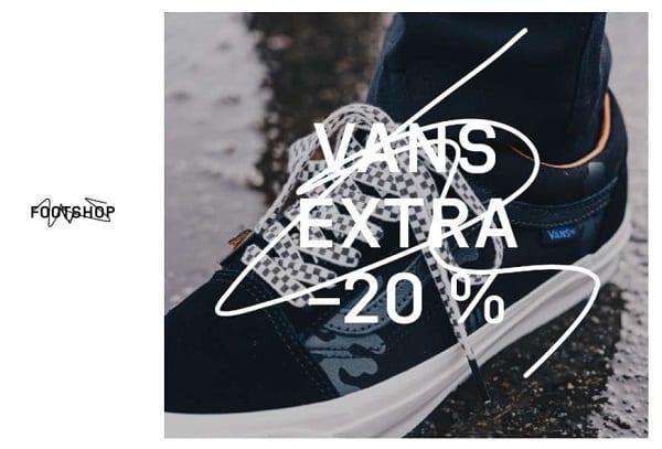 20% de remise sur vans chaussures et vêtements sur footshop