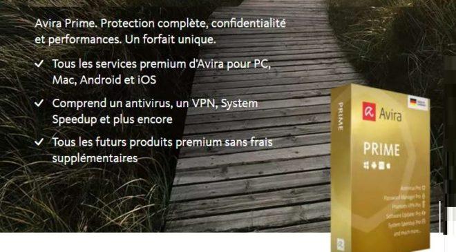 40% de remise sur Avira Prime (Antivirus Pro, VPN, System Speedup, Gestionnaire mot de passe…) jusqu'à 5 appareils (ordi et mobile)