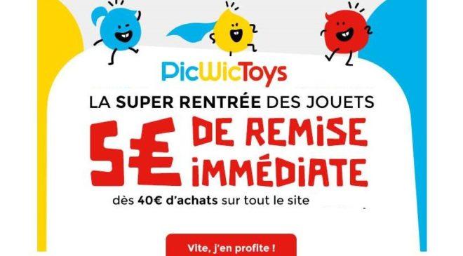 5€ de remise sur PicWicToys