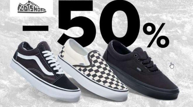 50% de remise sur Vans sur Footshop