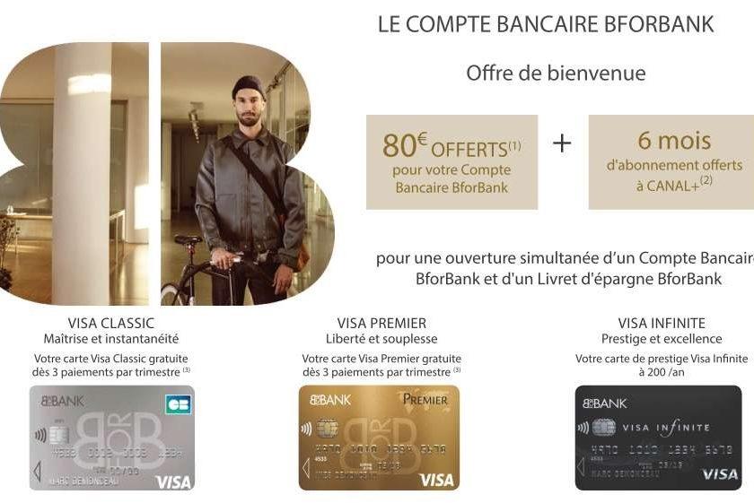 6 mois d'abonnement Canal+ offerts pour l'ouverture d'un compte Bancaire BforBank