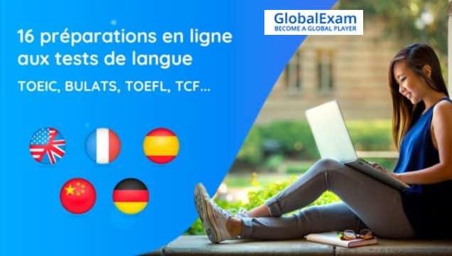 Abonnement préparation aux tests de langue GlobalExam moitié prix