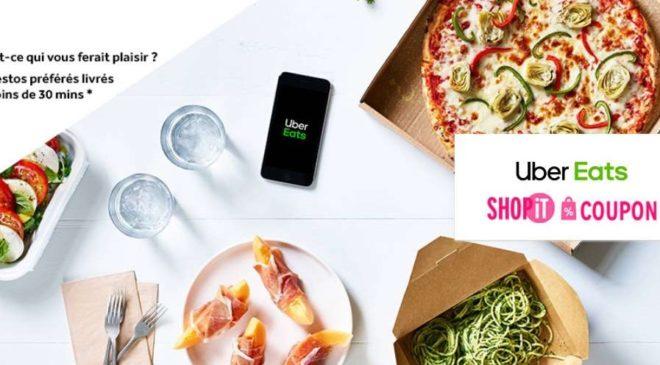 Code promo UberEATS donnant 10€ de remise