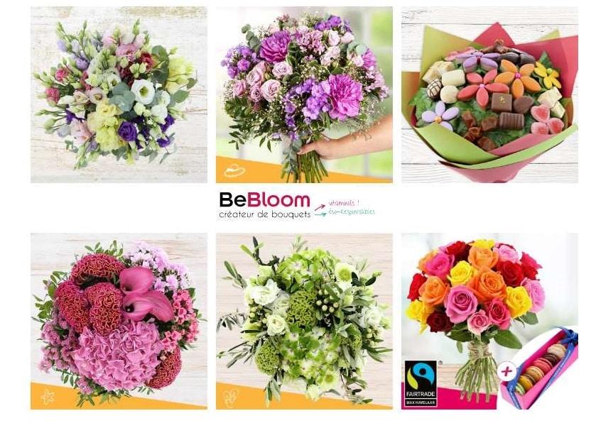Livraison de fleurs moins cher avec frais de port offerts sur Bebloom