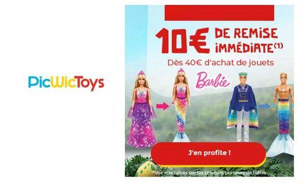 offre barbie picwictoys 10€ de remise immédiate