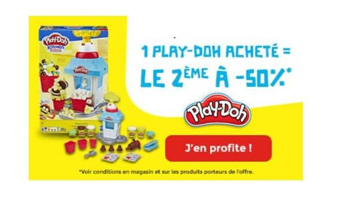 Remise immédiate de 50% sur votre deuxième boite Play-Doh
