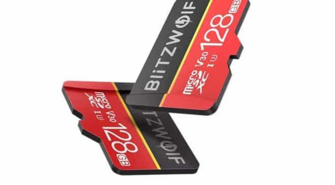 Vente flash carte micro SDXC 128GO U3 BlitzWolf