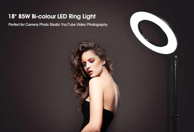 anneau lumineux LED 18 pouces pour photo et vidéo Craphy