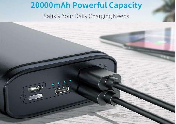 batterie externe 20000mAh Gemeita
