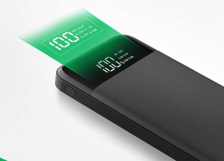 batterie externe Charmast 10400mAh avec affichage digital