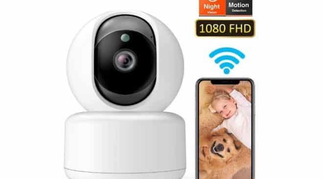 Moins de 20€ caméra de surveillance Wi-fi Dadypet (surveillance, enfant, animaux) avec détection de mouvement, vision nocturne…