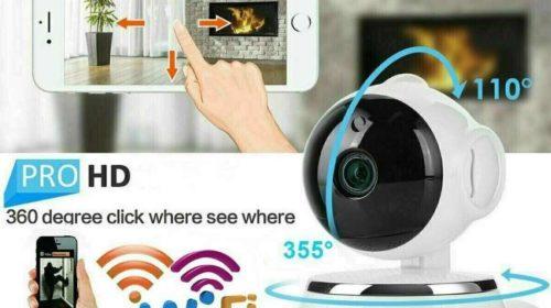 caméra surveillance Wi-fi rotative avec vision nocturne