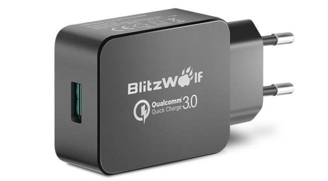 chargeur USB mural Blitzwolf 18W Quick Charge 3