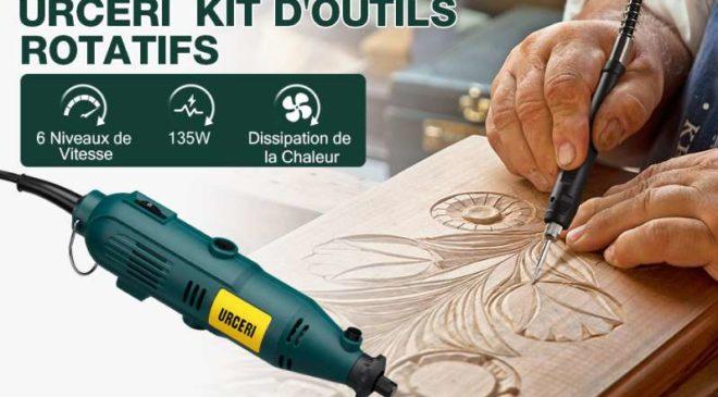 coffret outil multifonctions rotatif URCERI + 100 accessoires