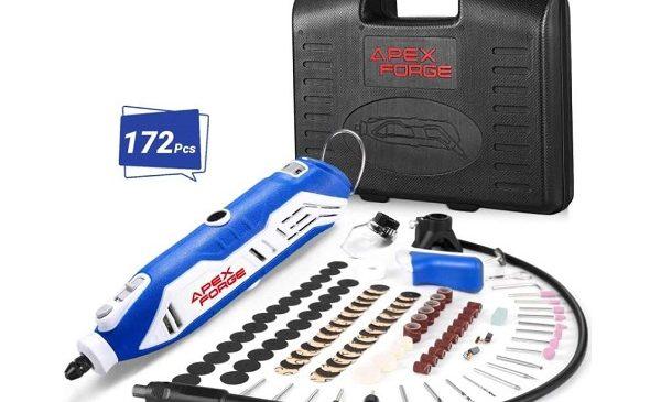 coffret outil rotatif multifonction apexforge135w + 172 accessoires