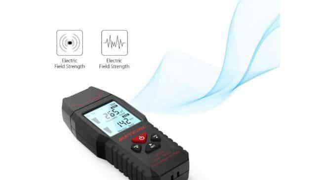 détecteur de rayonnement électromagnétique digital Meterk