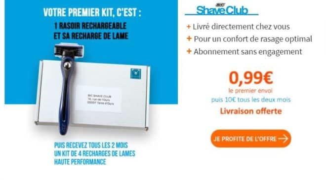 kit de rasage BIC Shave Club avec livraison gratuite Bricoprivé